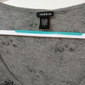 torrid Tops - Torrid   Skull & Roses Pocket Tank Top